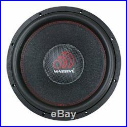 12 Inch Car Audio Subwoofer Dual Voice Coil 2 Ohm 4000W Massive Hippo XL 122