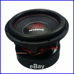 12 Inch Car Audio Subwoofer Dual Voice Coil 2 Ohm 6000W Massive Hippo XL 122R