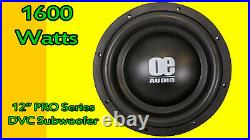 12 Inch Subwoofer 1600 Watts 2 Ohm Dual Voice Coil Bass Car Audio Subwoofer
