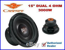 15 Inch 3000W Car Audio Bass Big Subwoofer Dual 4 Ohm Cadence Speaker Wild Beast