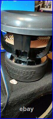 1 SUNDOWN AUDIO X-12 V. 2 D2 SUB PRO 12 DUAL 2-OHM 1500W RMS BASS SUBWOOFER used
