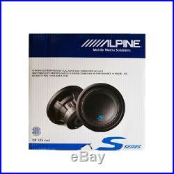 2X Alpine W10S4 10-inch Bassline Single 4 Ohm Subwoofer 750W (1Pair)