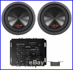 (2) Alpine SWR-8D4 8 Inch 1000w Dual 4 Ohm Type-R Car Subwoofers Subs+Crossover