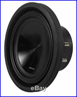 (2) Alpine SWT-10S2 Single 2-Ohm 10-Inch 2000W Shallow Truck Subwoofers