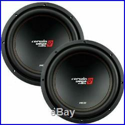 2 Cerwin-Vega XED12V2 1000 Watt 12 Inches Single 4 Ohm Car Audio Subwoofers (W)