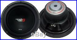 (2) Cerwin Vega Xed12 Car 12 Subs 2000w Max 4 Ohm Subwoofers Bass Speakers New