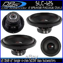2 DS18 SLC-12S 12 Car Subwoofer 1000W Max 4 Ohm SVC 12 inch Bass Woofer Sub