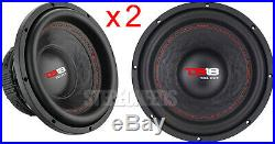 2 DS18 SLC-8S 8 Inch Car Subwoofers 800 Watts 4 Ohm Subs Select Series Pair NEW