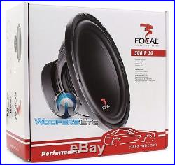 (2) Focal Sub P30 12 1000w Max Subs 4ohm Car Audio Subwoofers Bass Speakers New