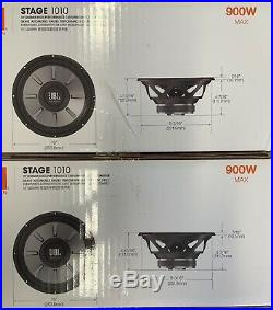 2 JBL STAGE 1010 1PR. 10 Single 4 Ohm Subwoofers 10-inch Woofers 1800 Watts MAX