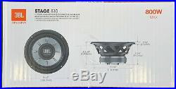 2 JBL STAGE 810 1PR. 8 Single 4 Ohm Subwoofers 8-inch Woofers 1600 Watts MAX
