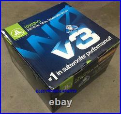 2 Jl Audio 10w0v3-4 1 Pr. 10 4 Ohm Subwoofers 10-inch Woofers New 10w0 W0v3