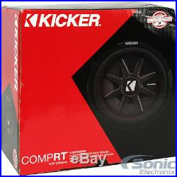 (2) KICKER 43CWRT671 600W 6.75 Inch CompRT Dual 1-Ohm Car Subwoofers