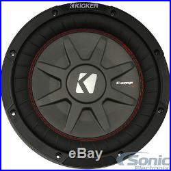 (2) KICKER 43CWRT672 600W 6.75 Inch CompRT Dual 2-Ohm Car Subwoofers