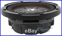(2) KICKER 43CWRT81 8 Inch 1200W CompRT81 Dual 1 Ohm Car Subwoofers