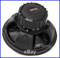 (2) KICKER CVR154 CompVR 2000W 15 Inch CompVR Series Dual 4-Ohm Car Subwoofers