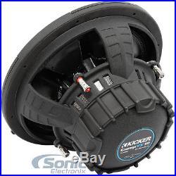 (2) KICKER CompVX 44CVX122 3000W 12 Inch Comp VX Dual 2-Ohm Car Subwoofers