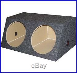 2 Kenwood 2000 Watt 12 Inch 4 Ohm Subwoofers + QPOWER Dual Sealed Enclosure