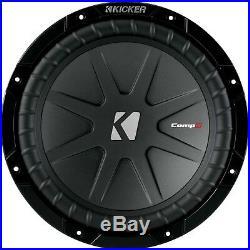2 Kicker 40cwr102 Car 10 Inch Dual 2 Ohms Compr Subwoofers Sub Woofers 40cwr10-2