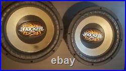 2 Kicker Comp vr cvr 10 Inch Dual 4ohm Subwoofers (old school subwoofers)