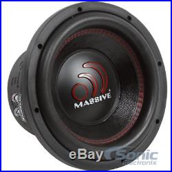(2) MASSIVE AUDIO 10 inch 2800 Watt Dual 2 Ohm Car Subwoofers Package GTX102