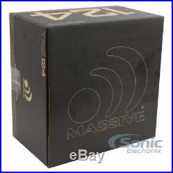 (2) MASSIVE AUDIO 1200 Watt 12 inch Dual 4 Ohm Car Subwoofer Package TKO 124