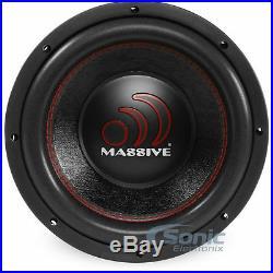 (2) MASSIVE AUDIO GTX 104 2800 Watt 10 inch Dual 4 Ohm Car Subwoofers Package