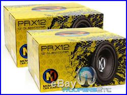 (2) Memphis Prx12d4 12 Subs 500w Dual 4-ohm Car Subwoofers Bass Speakers New