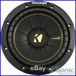 (2) NEW KICKER 44CWCS84 CompC CWCS84 800W 8 Inch CompC 4 Ohm Car Subwoofers