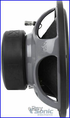 (2) NVX VSW124v2 1200 Watts 12 Inches VS-Series Dual 4-ohm Car Audio Subwoofer