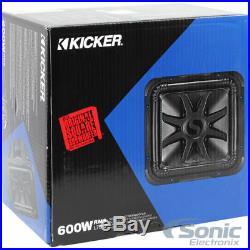 (2) New! Kicker Solo-Baric 44L7S104 1200 Watt 10 Inch Dual 4 ohm Car Subwoofers