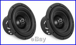 (2) New! NVX VCW102 1500W 10 Inches 2-ohm Car Audio Power Subwoofers Package