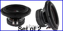 2 Pack DS18 SLC 8S 8 Inch Subwoofer 800 Watts Max Power 4 Ohm Single Coil Bass