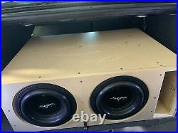 2 Skar Audio Evl-10 D2 2000w Max Power 10-inch Dual 2 Ohm Spl/sq Subwoofer Used