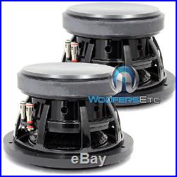 (2) Sundown Audio Sd-2 8 D2 8 Subs Dual 2 Ohm Shallow Bass Subwoofers New