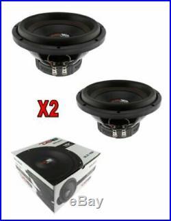 2 x 10 Inch Sub woofers 880 Watt Power Bass 4 Ohm Single Voice Coil DS18 SLC-10S