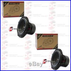 2 x AUDIOPIPE TXX-BD3-12 12-INCH 12 DUAL 4-OHM CAR AUDIO SUBWOOFER 900W RMS
