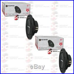 2 x BRAND NEW MEMPHIS 10 DUAL 4-OHM CAR AUDIO DVC SHALLOW MOUNT SUBWOOFER