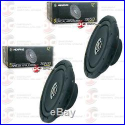 2 x BRAND NEW MEMPHIS 12 DUAL 4-OHM CAR AUDIO DVC SUBWOOFER 500 WATTS MAX