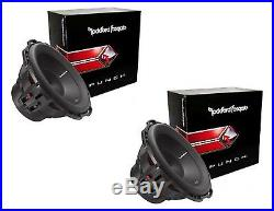 2 x ROCKFORD FOSGATE P2D4-12 12 12-INCH CAR AUDIO DUAL 4-OHM SUBWOOFER 400W RMS