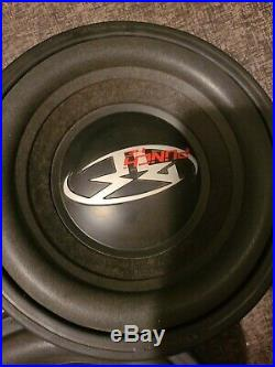 2x 10 Inch Punch HE subwoofer Old School Rockford Fosgate 8 Ohm RFP3810 sub