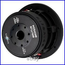 2x Hifonics BRW6D4 1200 Watts 6.5 Inch BRUTUS Car Audio Dual 4 Ohms Subwoofers