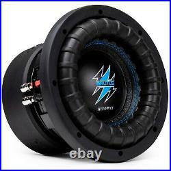 2x Hifonics BRW8D4 2400 Watts 8 Inch BRUTUS Car Audio Dual 4 Ohms Subwoofer