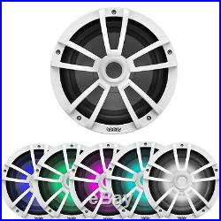 2x Infinity 10-Inch 4 Ohm 750W Marine Subwoofers with RGB LEDs (Bulk Packaging)
