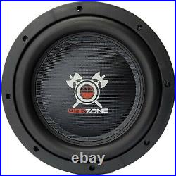 2x Warzone 10 Inch 1200 Watt Car Audio Shallow Subwoofer with 4Ohm DVC Power (Two)