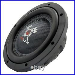 2x Warzone 12 Inch 1500 Watt Car Audio Shallow Subwoofer with 4Ohm DVC Power (Two)
