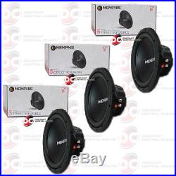 3 x BRAND NEW MEMPHIS 12 DUAL 4-OHM CAR AUDIO SUB WOOFERS