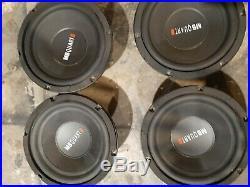 4 subs QTY (4) mb quart dwg 254 old school dvc 4 Ohm 10 inch subwoofers