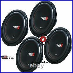 4x CERWIN-VEGA XED10V2 (XED10)1000 Watts 10 Inch Single 4 Ohm Car Audio SUB