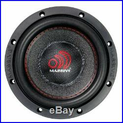 6 Inch Car Audio Subwoofer Single Voice Coil 4 Ohm 1200W Massive Summo 4 PACK